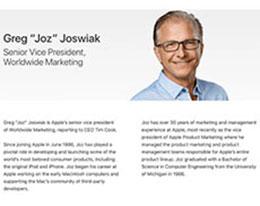 苹果更新官网页面:营销主管席勒卸任,乔斯维亚克上任
