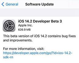 苹果 iOS 14.2Beta 3更新内容及升级方法