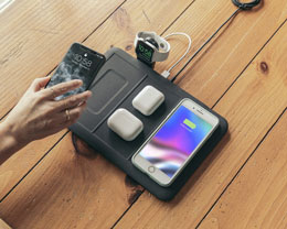Mophie 发布新款无线充电板:可同时为四款设备进行无线充电