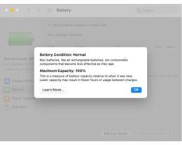 苹果电池健康管理功能无法在苹果 M1 Mac 上禁用