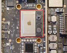 苹果 M1 SoC 高清图:集成内存颗粒