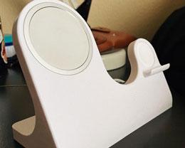 国外网友使用 3D 打印自制苹果 MagSafe Duo 磁吸充电器