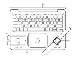苹果新专利:有望在 MacBook 上为 iPhone 无线充电