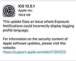 iOS 12.5.1 正式版更新内容及升级方法