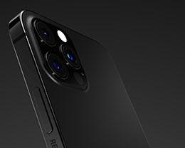 设计师分享亚光黑配色的 iPhone 13 Pro 渲染图