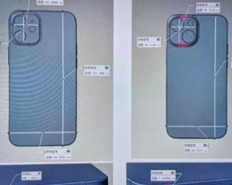 iPhone 13 mini CAD 模型設計圖曝光:后置斜對角大顆雙攝相機