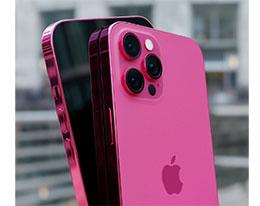 """苹果 iPhone 13 """"玫瑰粉""""渲染图曝光:小刘海+通体粉色"""