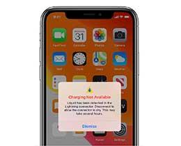 "iPhone 12 在充电时出现 ""闪电接口检测到液体""的提示怎么办?"