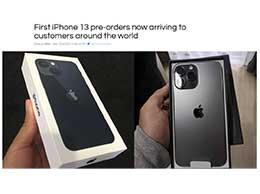 苹果 iPhone 13 系列机型今日正式发售,已送达全球首批用户