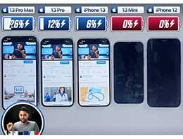 iPhone 13 系列电池续航测试:13 Pro Max 续航最强,近 10 个小时