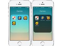 iOS7.1.2越狱插件推荐:文件夹背景和图标变暗DarkFolders7
