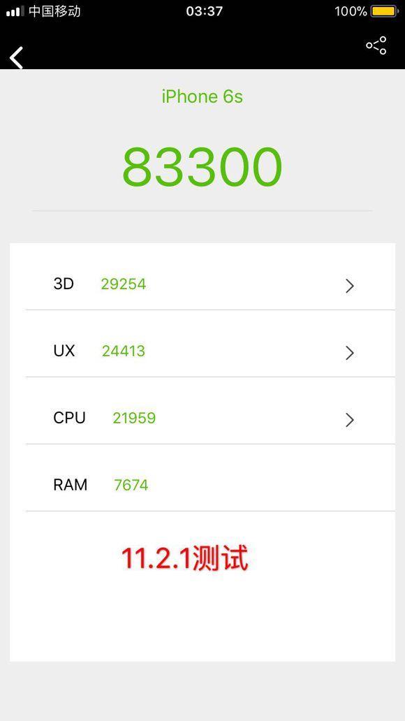 苹果实用技巧:iPhone 6s要升级iOS 11.2吗跑分看完你就知道了