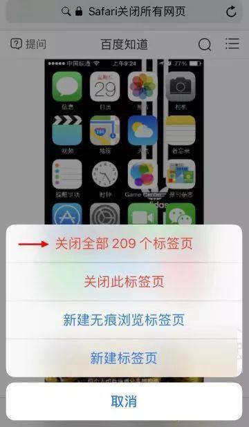 iPhone 如何一键关闭所有网页?