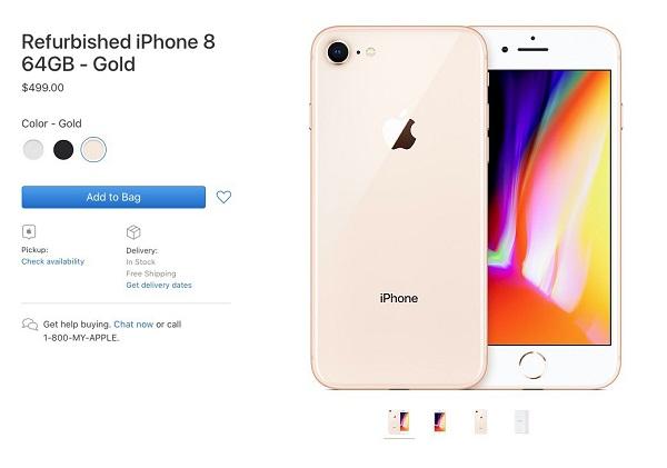 苹果美国官网上线官翻版 iPhone 8/8P,售价不足 3500 元