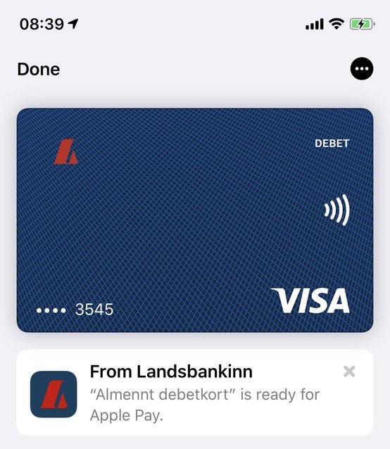Apple Pay 正式登陆冰岛