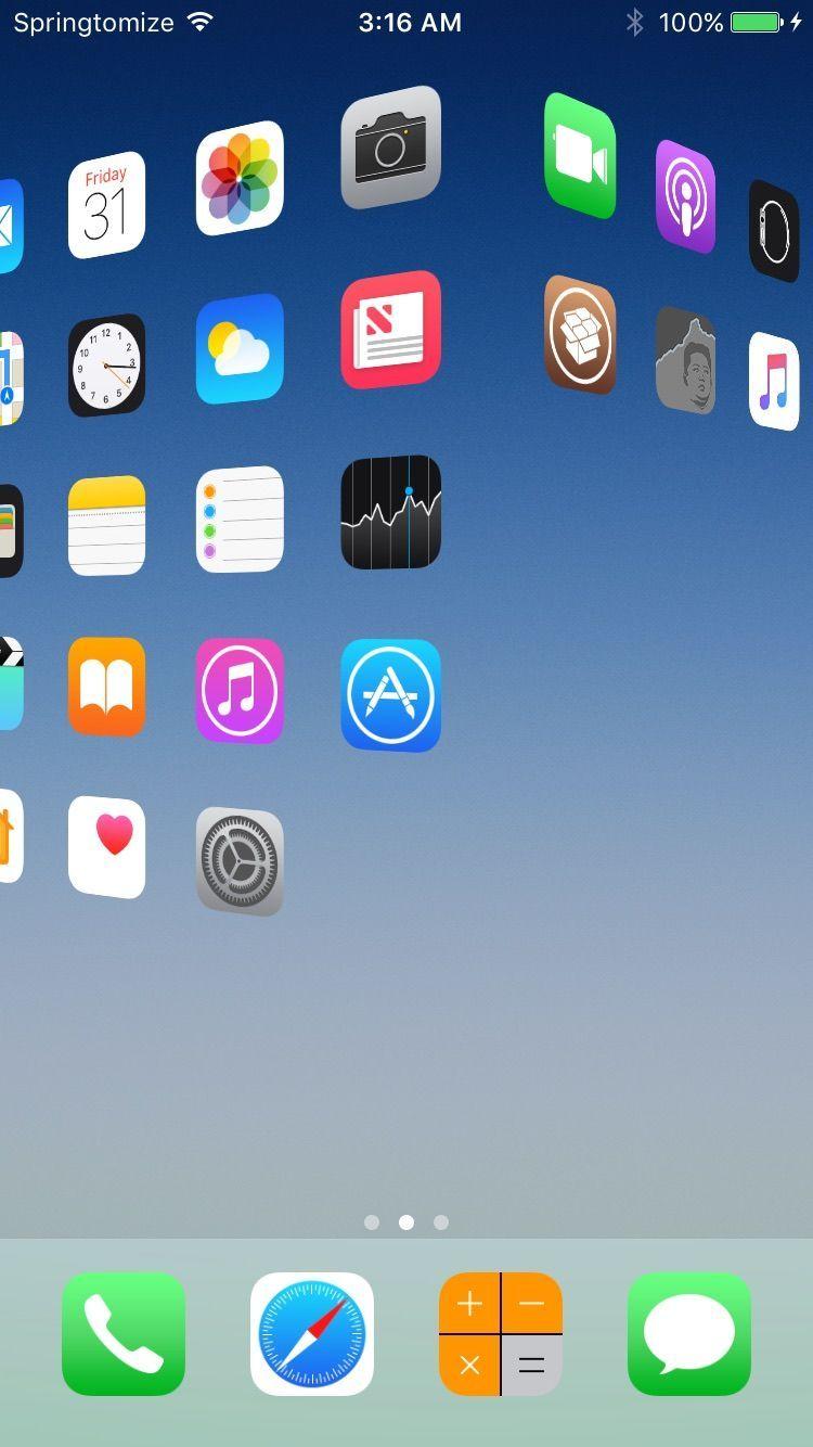 修改 iPhone 桌面图标、动画、状态栏,一个工具就够了