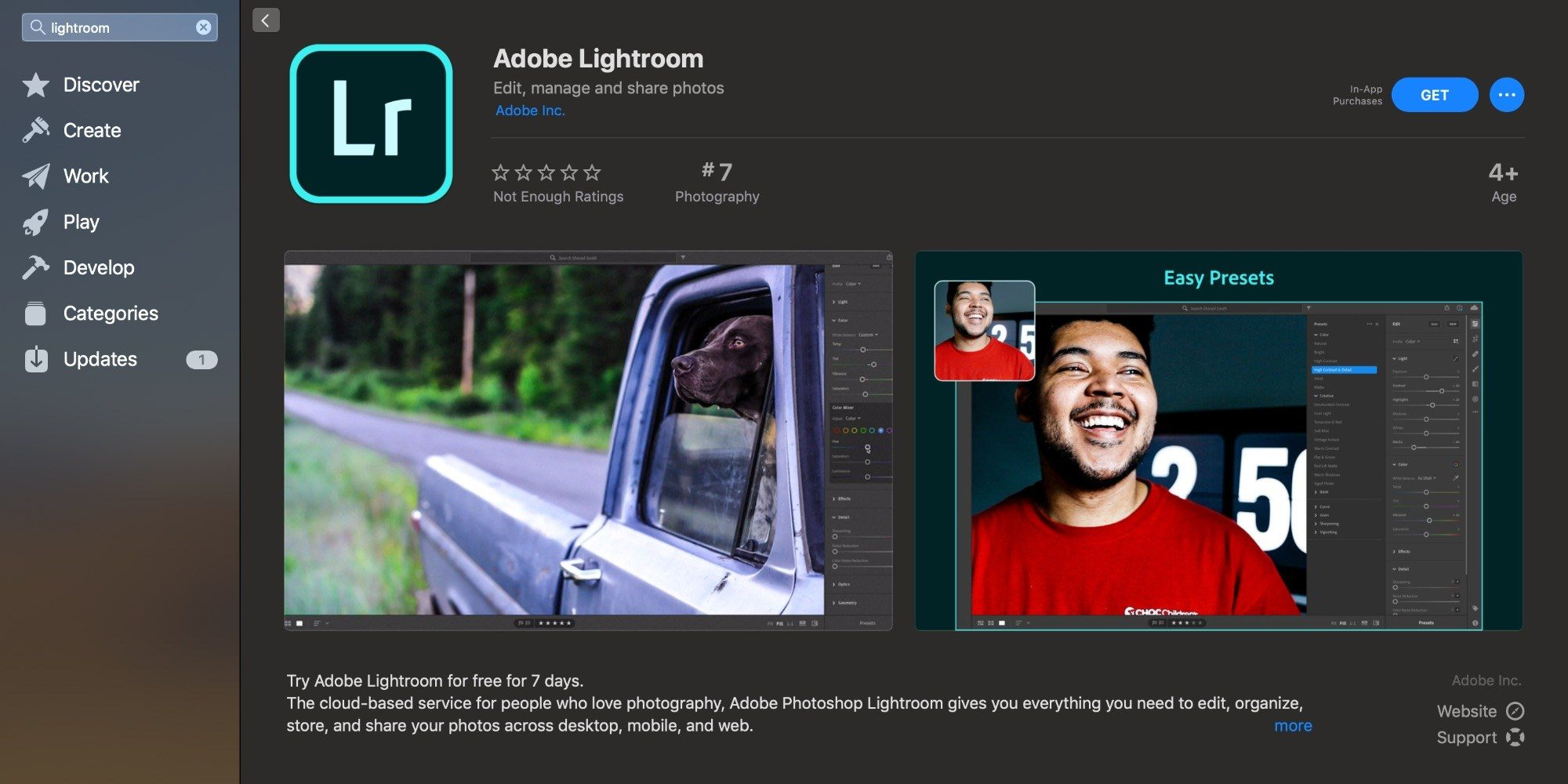 Adobe Ligthtroom 正式登陆 Mac App Store