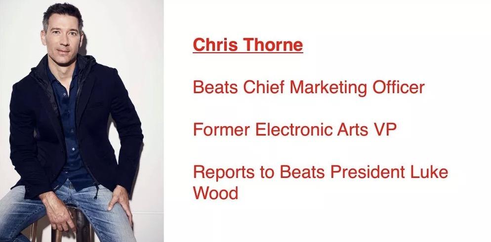 Beats 任命前 EA 高管 Chris Thorne 为首席营销官