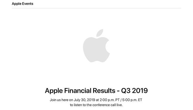 苹果将于 7 月 30 日公布第三财季财报,营收预计至多 545 亿美元
