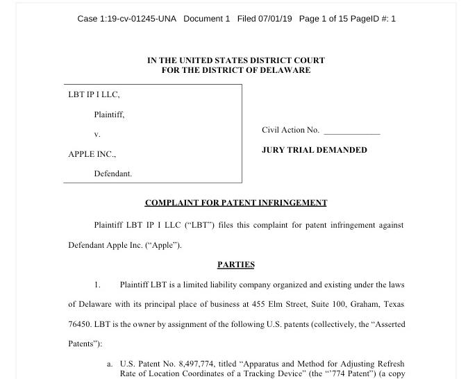 苹果遭起诉:iPhone/iPad 被指侵犯省电技术等五项专利