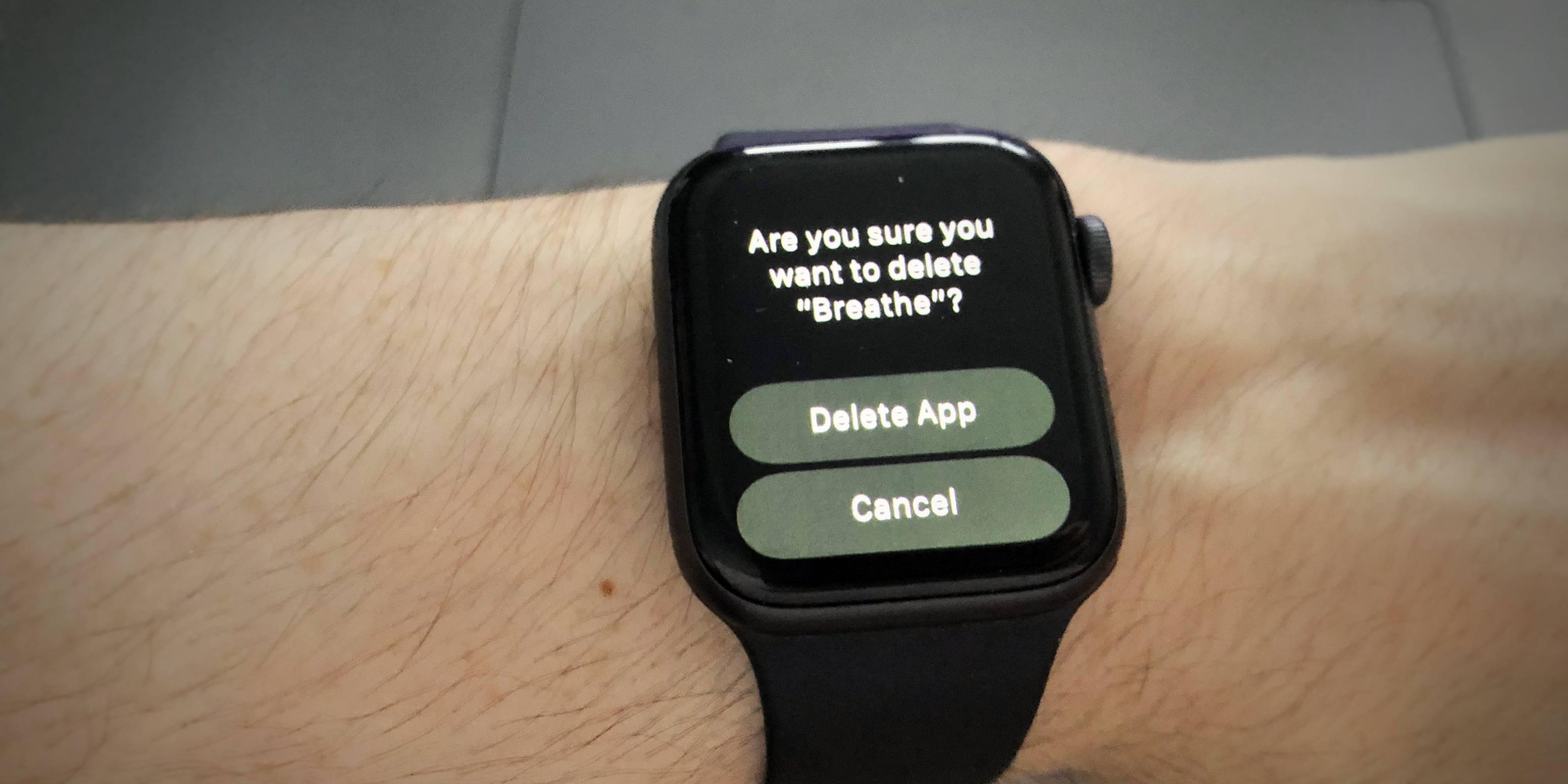 Apple Watch 正式支持删除预装应用