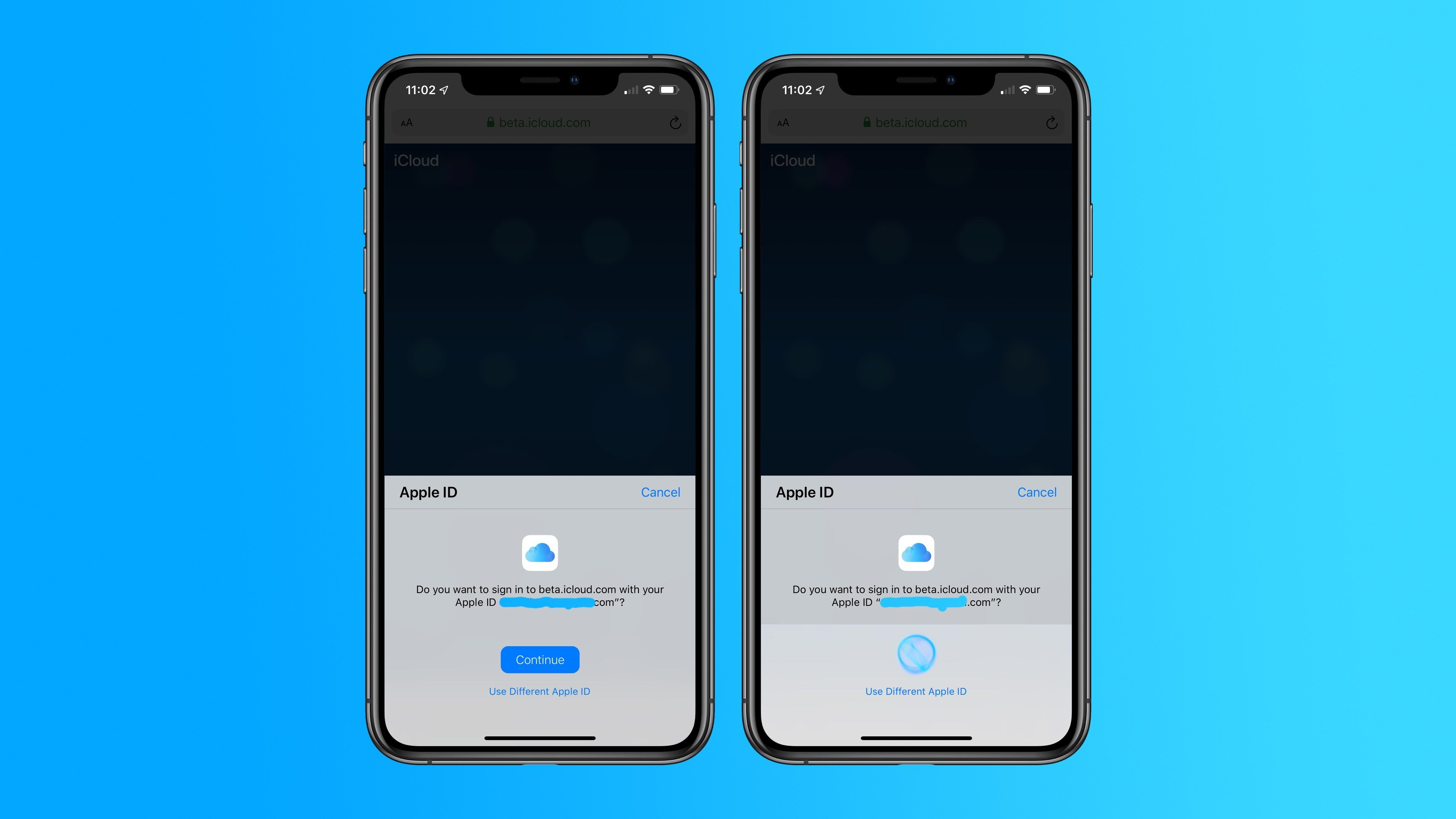 iOS 13 和 macOS 10.15 测试版中可使用 Face ID 登录 iCloud