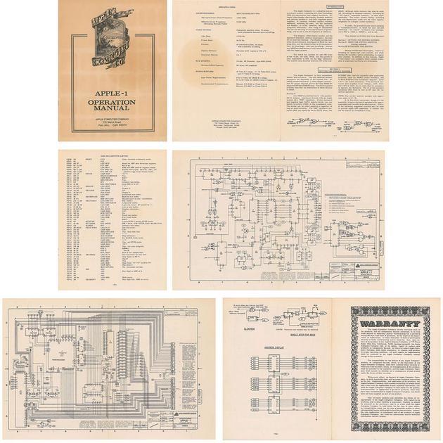 1976 年 Apple I 手册被拍卖:价格近1万美元