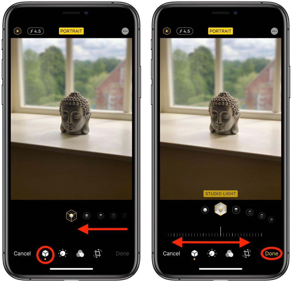 如何在 iPhone 上使用「人像模式」并调整光效?