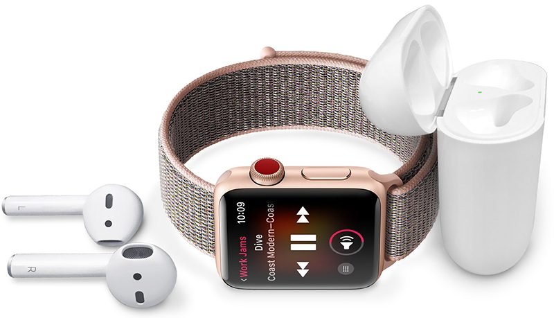 如何在 Apple Watch 上使用收听音乐?