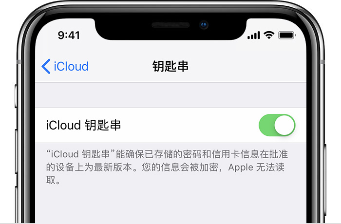 使用 iCloud 钥匙串功能的常见问题和解决办法