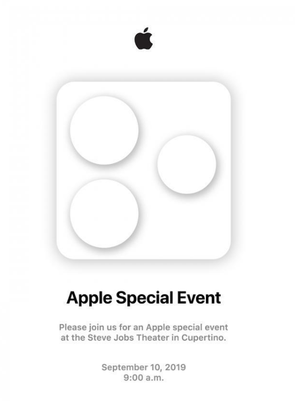 2019年苹果秋季邀请函透露了哪些信息?