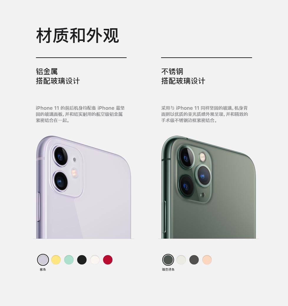 一图看懂iPhone 11/11 Pro的同与不同