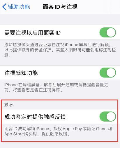 iPhone 11/11 Pro 如何开启面容 ID 触感反馈?