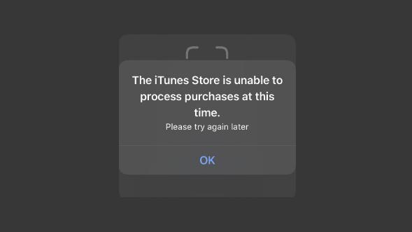 """设备遇""""The iTunes Store is unable to process purchases""""怎么办?如何解决"""