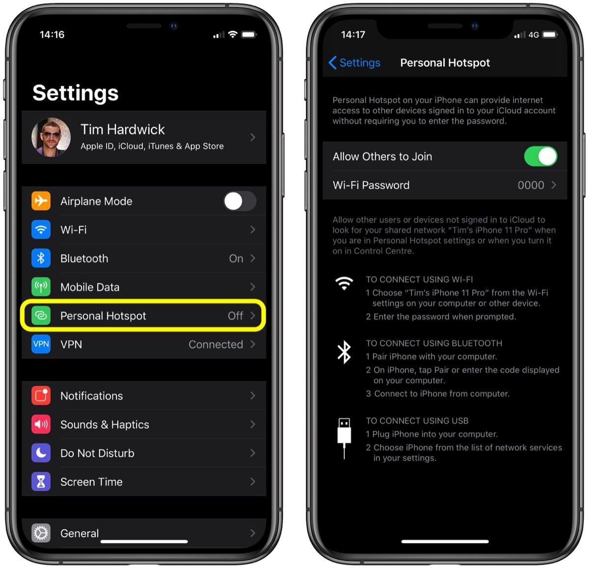 iOS 13 教程:如何在 iPhone 和 iPad 上使用即时热点?