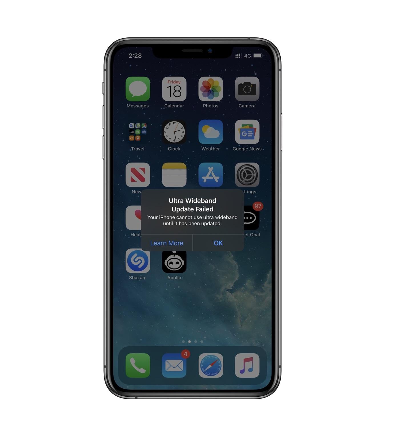 iOS 13 更新可能导致 iPhone 11 系列的 U1 芯片失效