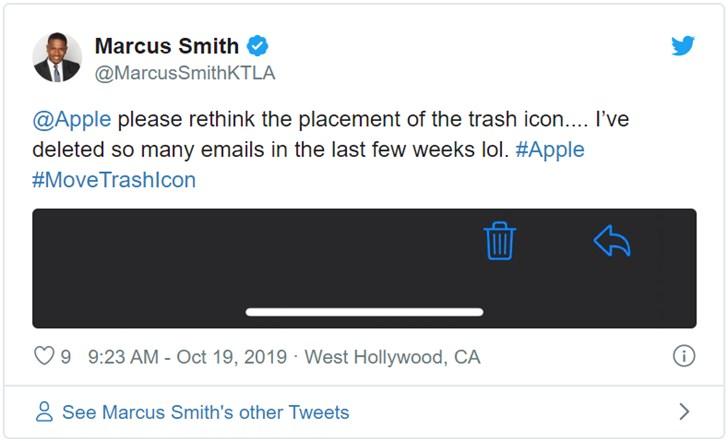 苹果 iOS 13 邮件应用新设计让部分用户误删电子邮件