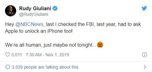 特朗普网络安全顾问连续输错密码,苹果将其 iPhone 恢复出厂设置