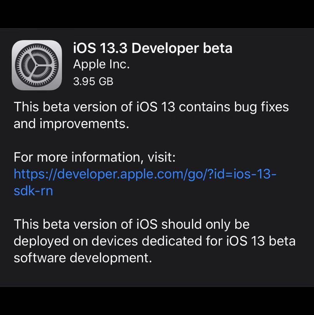 建议升级 iOS 13.3 Beta1:解决频繁杀后台问题