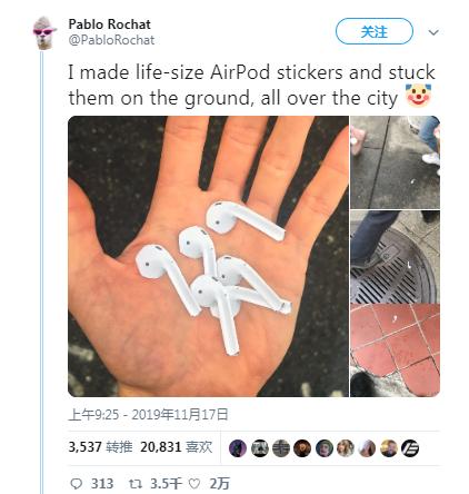 AirPods 掉了?这些只是恶作剧贴纸
