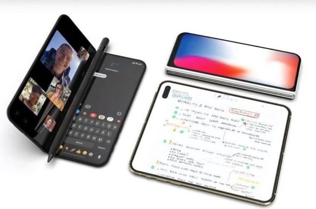 折叠屏 iPhone 新图曝光:8 英寸大屏 + 90° 折叠时秒变 PC