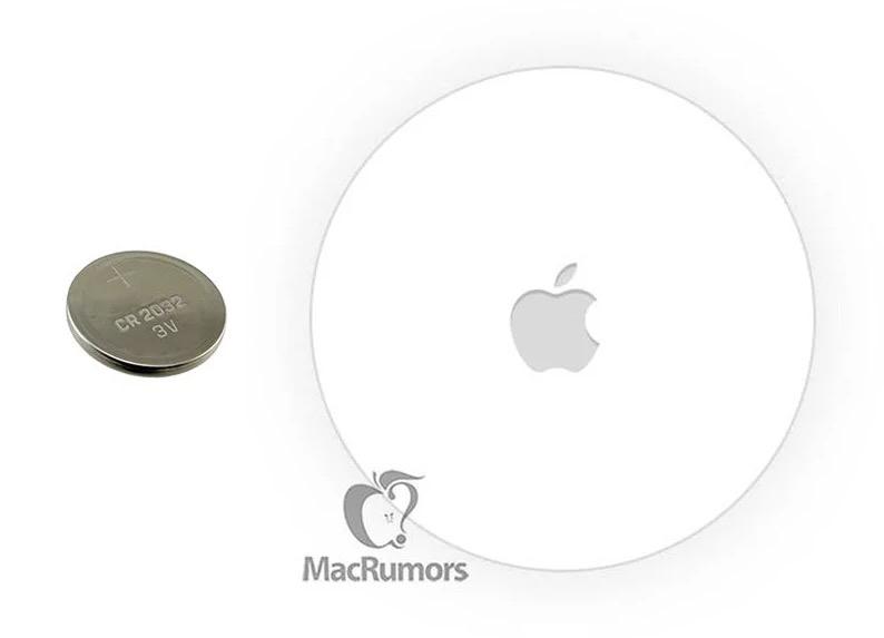 苹果寻物防丢贴 AirTag 或将采用纽扣电池