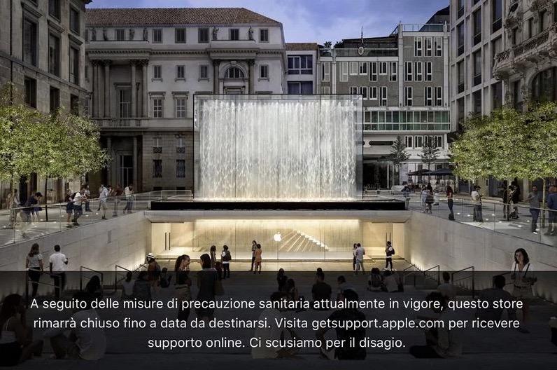 苹果关闭意大利所有 Apple Store
