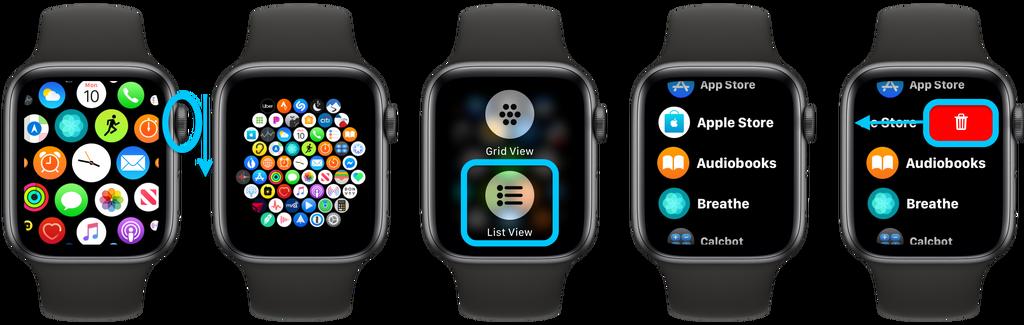 如何一次性查看所有的 Apple Watch 应用?