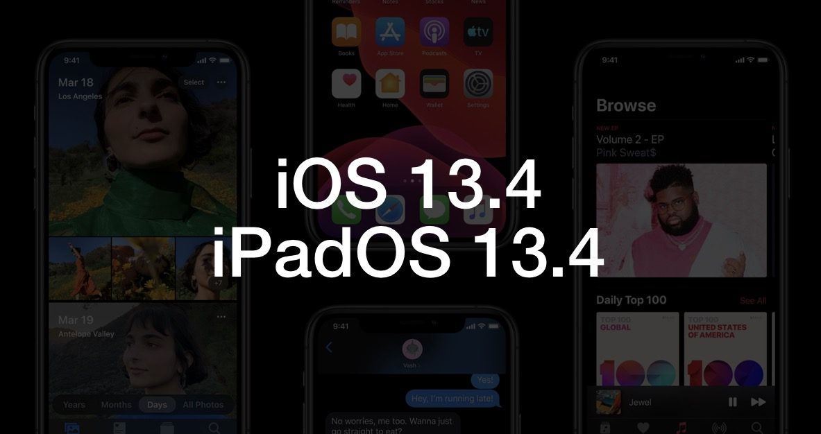 Apple 发布 iOS 13.4 与 iPadOS 13.4 正式版,提升鼠标操作体验