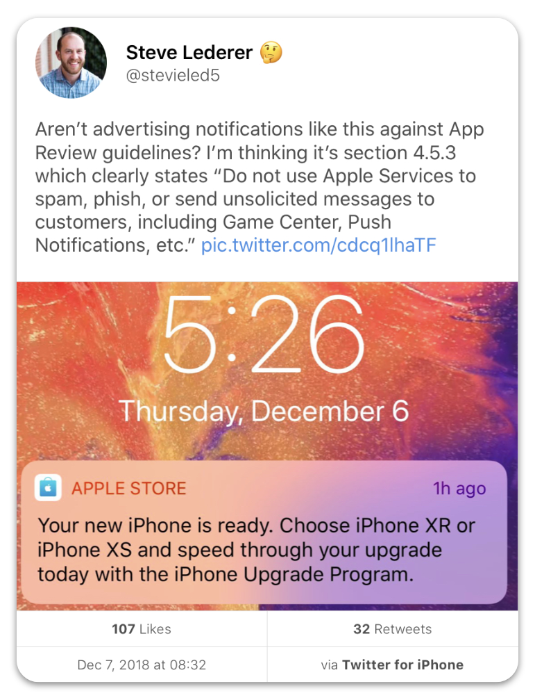 面对苹果更改应用推送促销信息规则的修改,普通用户应该如何应对?