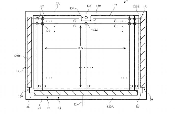苹果新专利:具有横向刘海的 iPad 设计