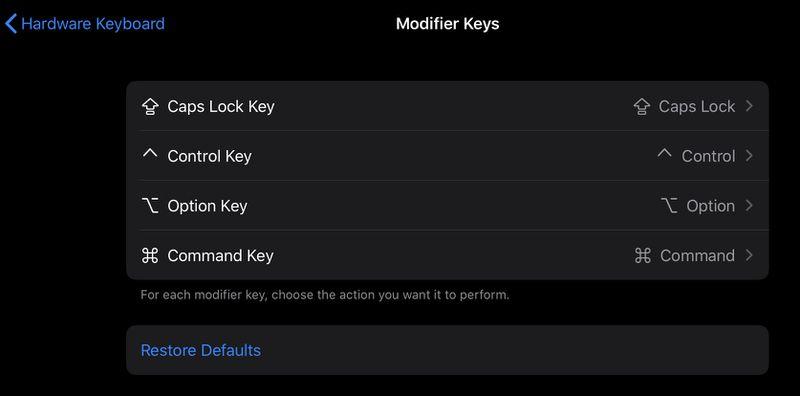 iPadOS 教程:如何为第三方键盘修改自定义按键?