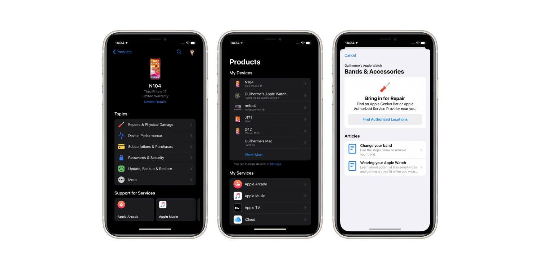 """""""Apple 支持""""应用迎来重大更新:全新界面、深色模式"""