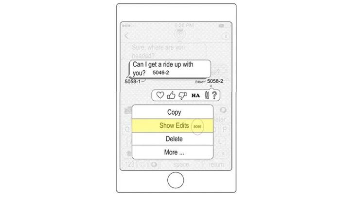 苹果 iMessages 新专利:对已发送消息进行重新编辑